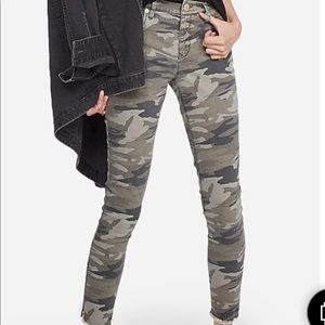 Express Mid Rise Camo Ankle Legging - Size 12R